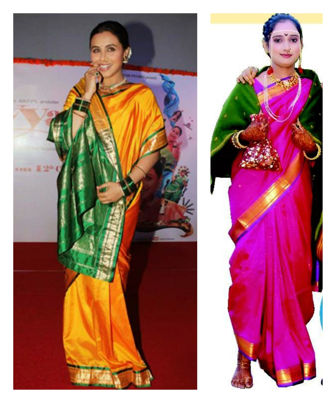 Looks - How to maharashtrian wear lavani saree video