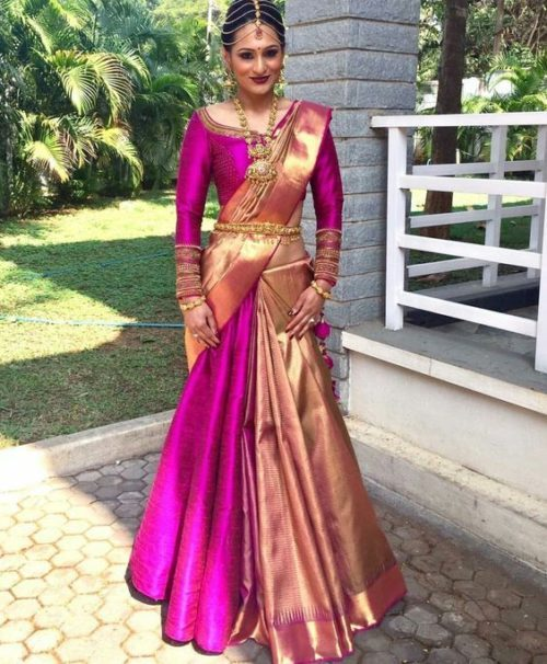 How To Wear A Half Saree Like A Lehenga Saree In 7 Different Ways