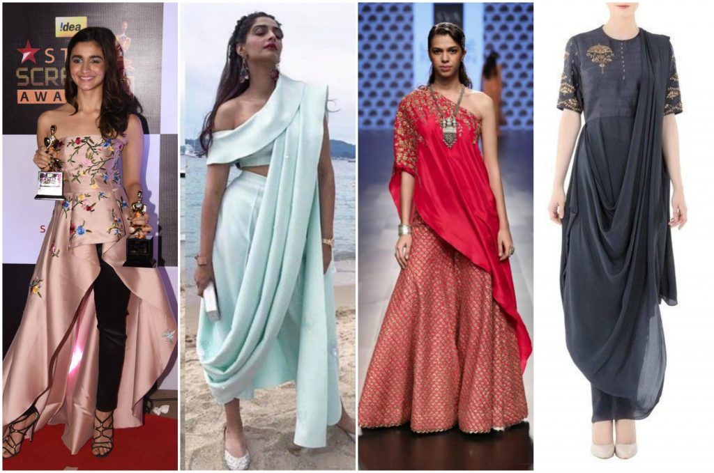 Indian Festival Fusion Outfits Ideas For Diwali 2017