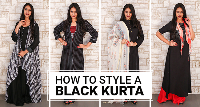 How To Style A Black Kurta In 5 Different Ways G3 Fashion