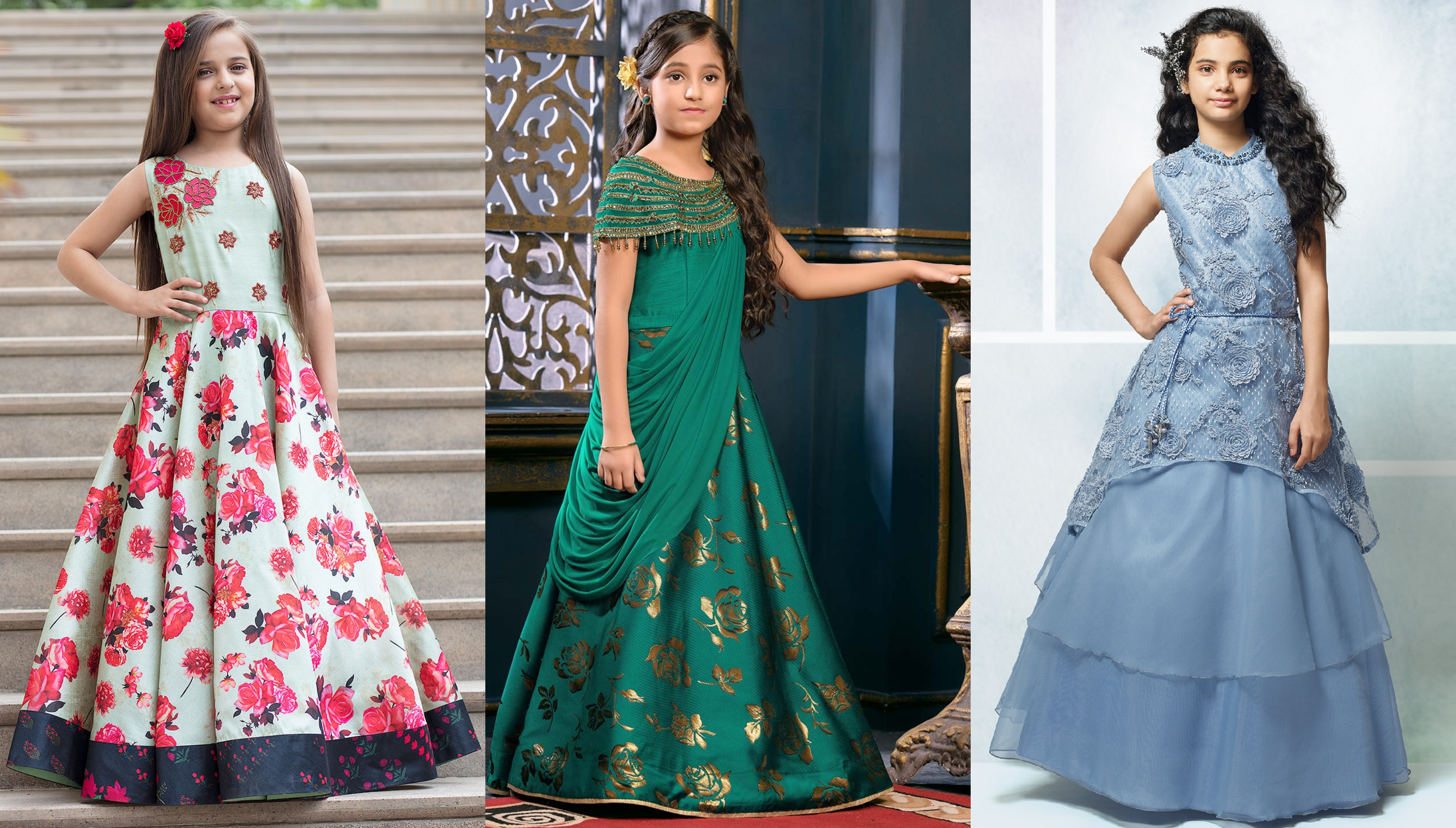 Top Trends of Girls Designer Gowns , Kids Indian Wedding