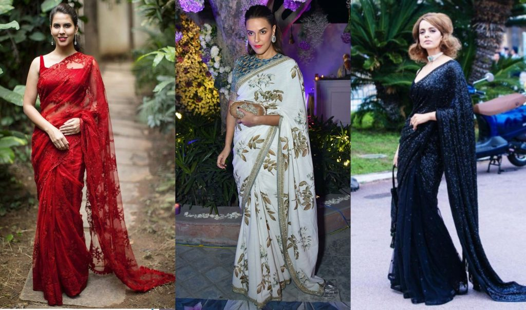 Top Trends And Latest Styles Of Party Wear Saree 2019
