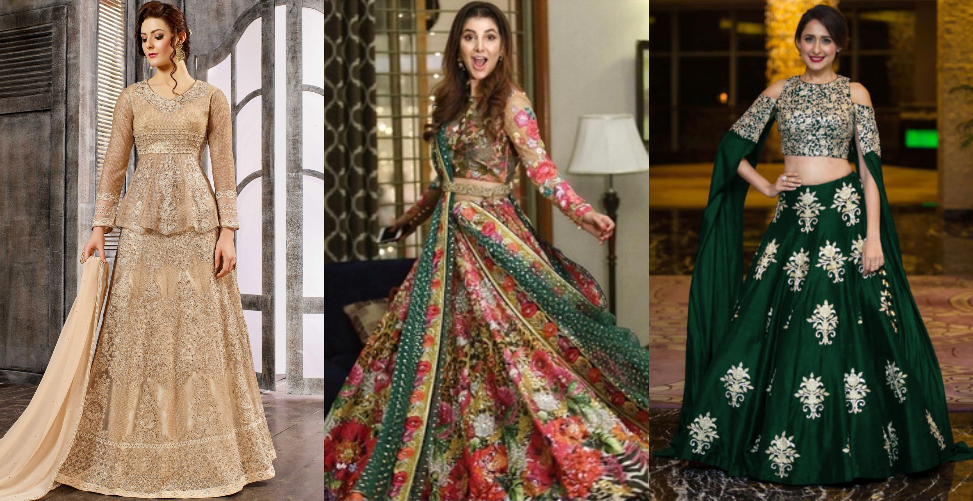 472950437 Top Trends Indo Western Lehenga choli for Party Wear 2019