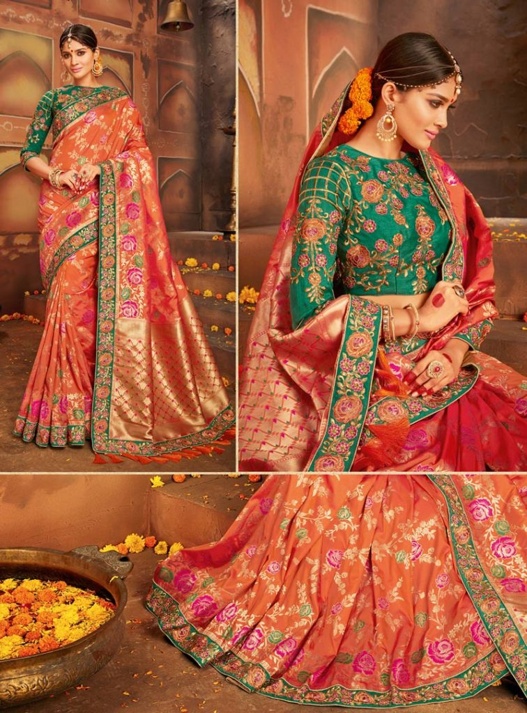 3b0d246648 top trends of wedding saree, latest wedding saree design, designer wedding  saree
