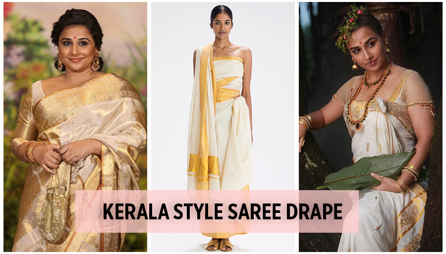 Kerala Style Silk Saree Draping In Different Style And Types Of Kerala Saree