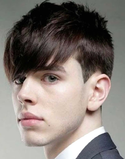 fringe hairstyle,men fringe cut
