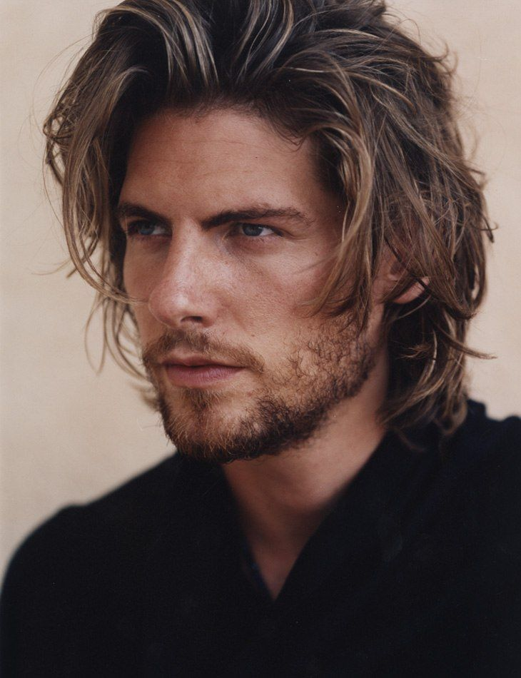 long layered hairstyle,long haircut for men
