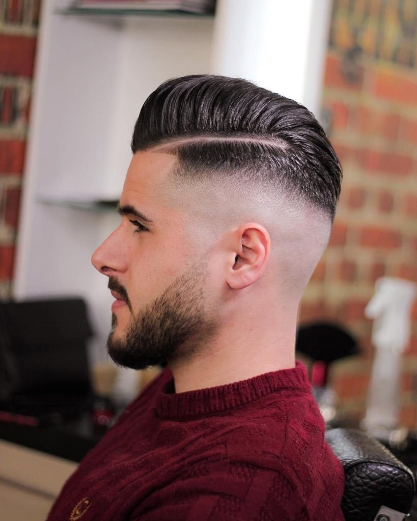 slicked back hair style,men's hairstyle