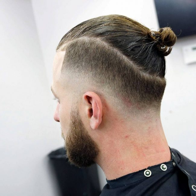 back side of top bun hairstyle for men,Top 12 Trendy Hairstyles for Men in 2020