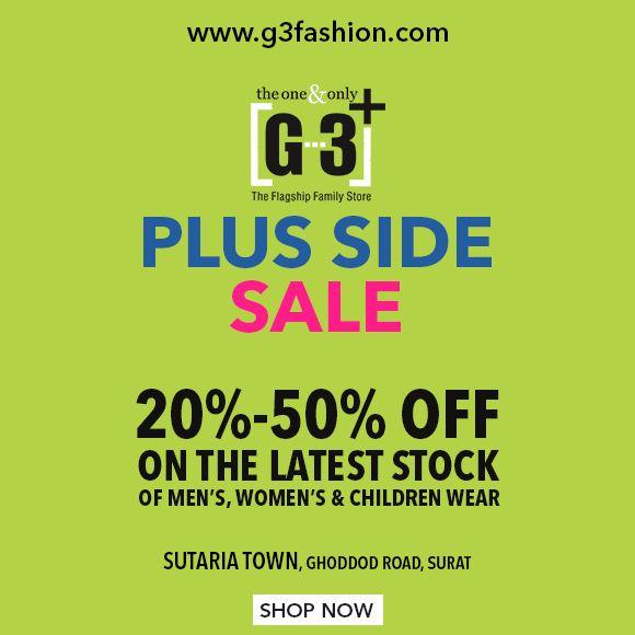 Plus Side Sale - Upto 50% Off