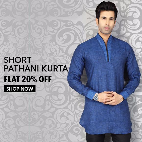 Men's Short Pathani Kurta