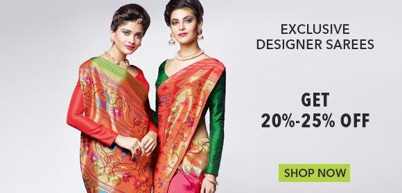 Exclusive Saree - Upto 20%-25% Off
