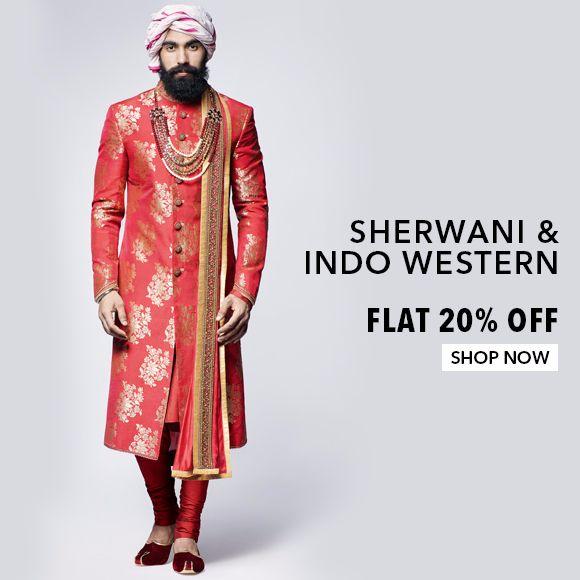 Sherwani & Indo Western - Flat 20% Off