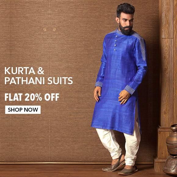Kurta Suit & Pathani Suits - Flat 20% Off