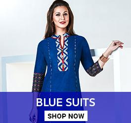 Blue Color Salwar Kameez