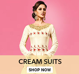 Cream Color Salwar Kameez