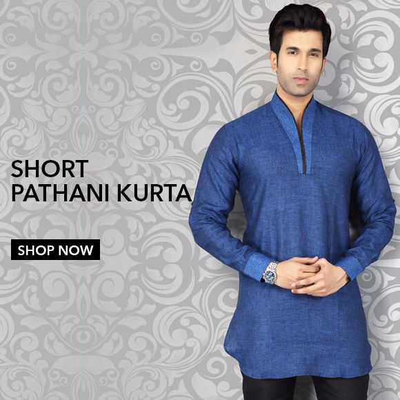 Men's Short Pathani Kurta