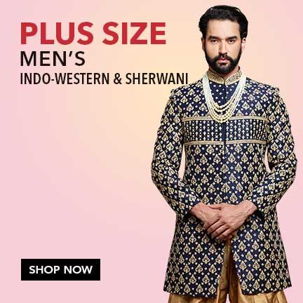 Men's Plus Size Indo-Western & Sherwani