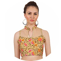 Beige Colour Readymade Blouse