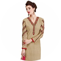 Beige Colour Salwar Suit