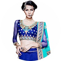 Blue Colour Lehenga Choli