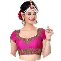 Pink Colour Readymade Blouse