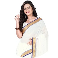 White Colour Sarees