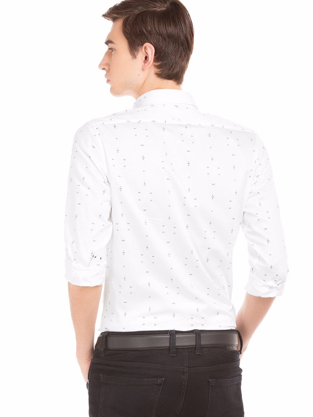 Buy Arrow Black Party Wear Shirt - ASTF Free Shipping 30 Days Return Cash on DeliveryPrice: ₹
