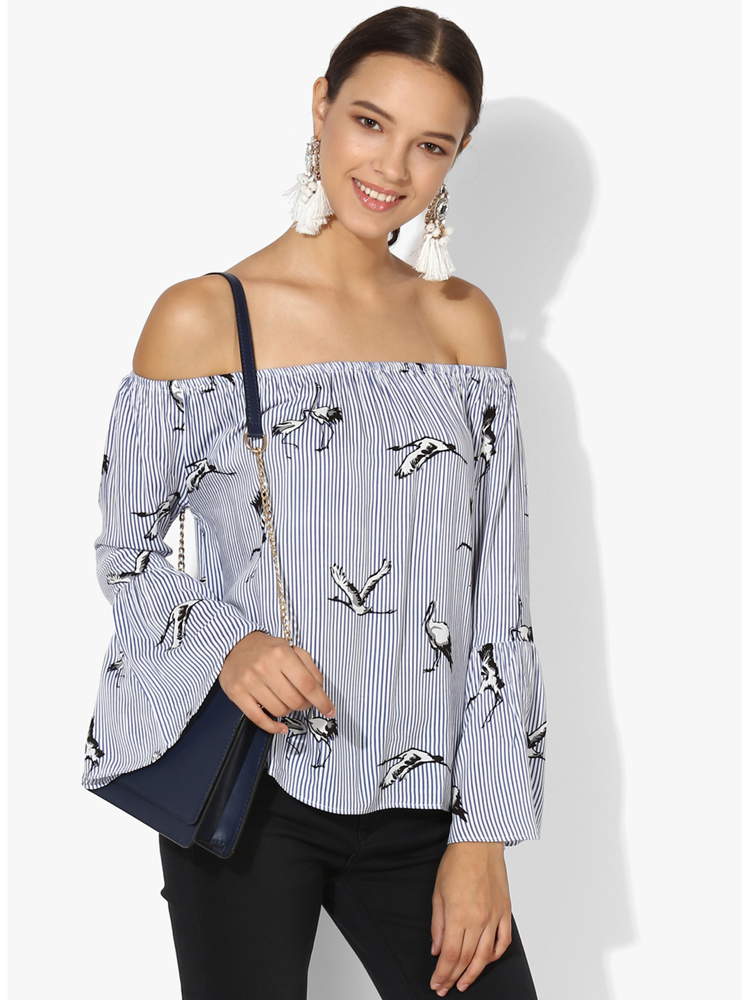 16bbb9f7ef821 Deal off shoulder casual wear top - G3-WTO0710