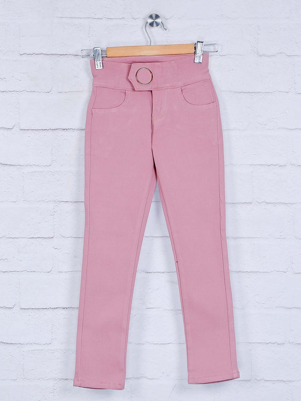 Deal pink solid cotton girls jeans - G3-GJE0458   G3fashion.com