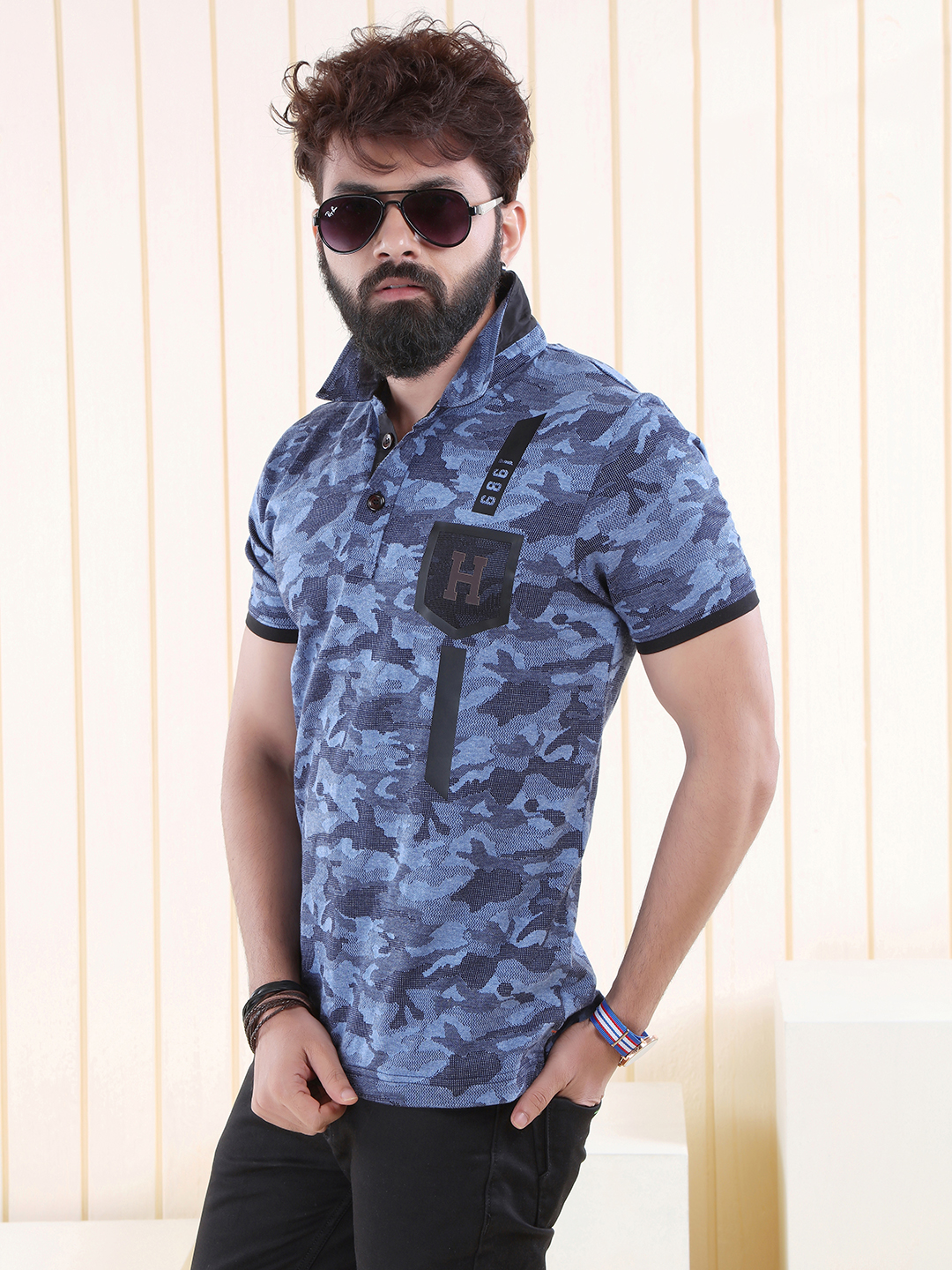 Hats off blue printed cotton t shirt g3 mts4907 for T shirt and hat printing