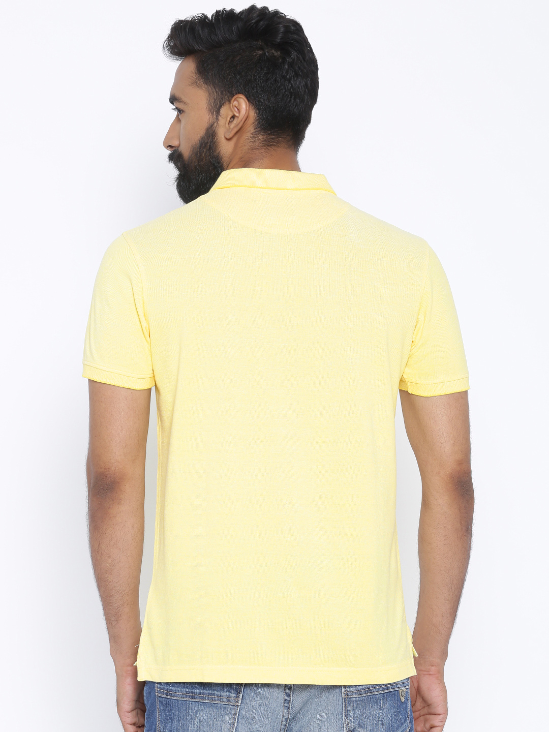 Indian terrain plain yellow polo t shirt g3 mts4762 for Polo t shirts india