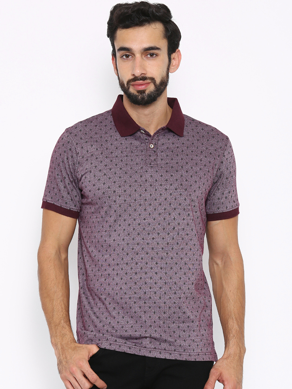 Indian Terrain Printed Maroon T Shirt G3 Mts4718
