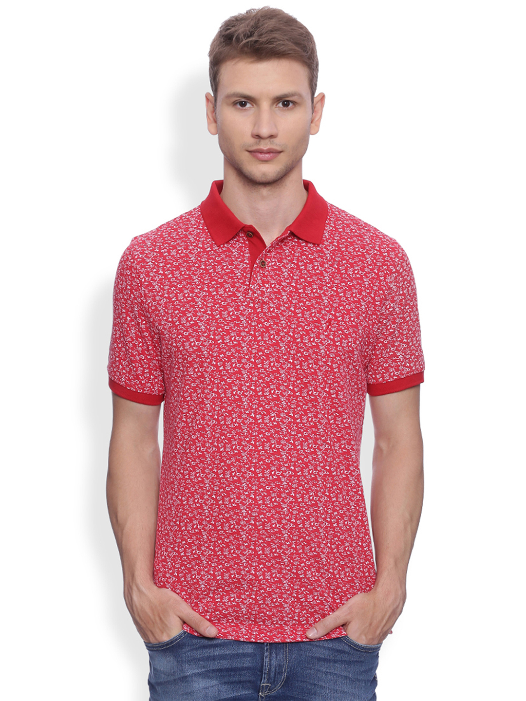indian terrain red printed t shirt g3 mts4753