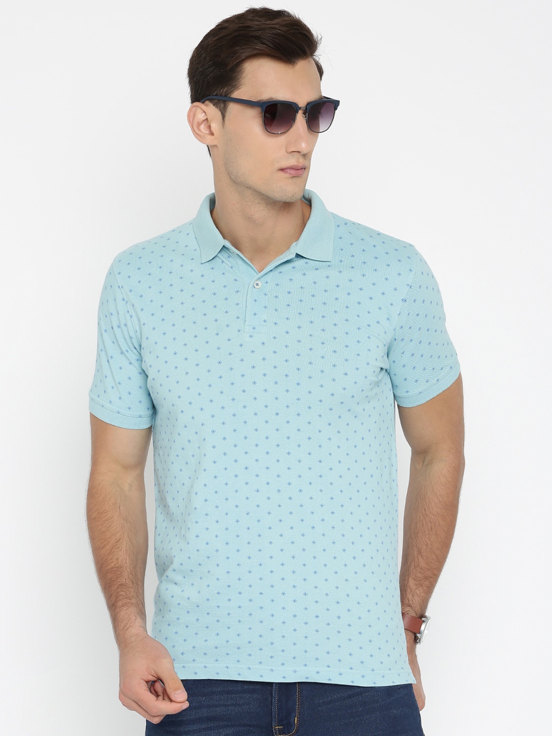 Indian terrain sky blue printed t shirt g3 mts4750 for Printed t shirts india