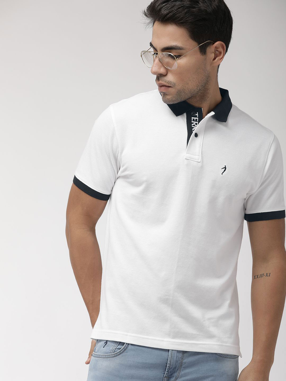 Indian Terrain solid white mens t-shirt - G3-MTS10054 | G3fashion.com