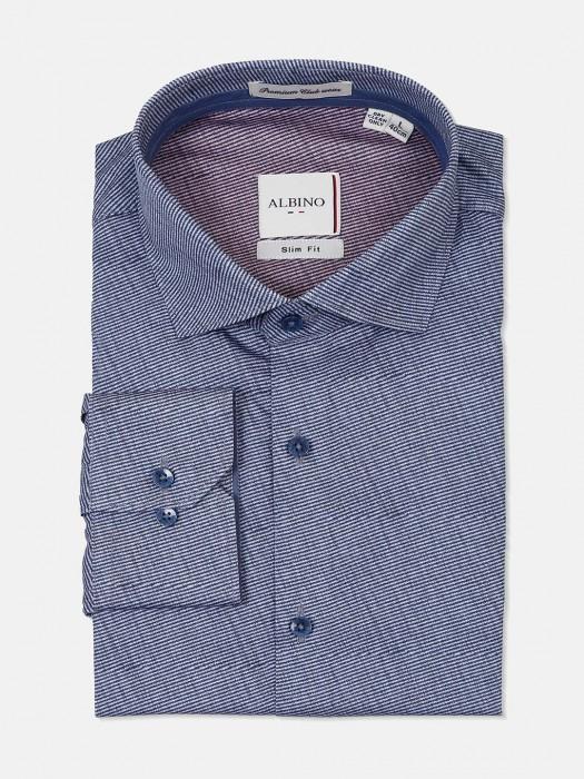 Albino Dark Blue Stripe Shirt