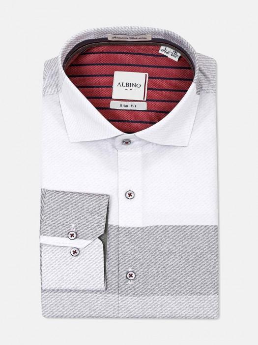 Albino White Grey Stripe Shirt