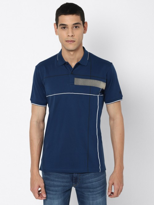 Allen Solly Solid Blue Mens T-shirt