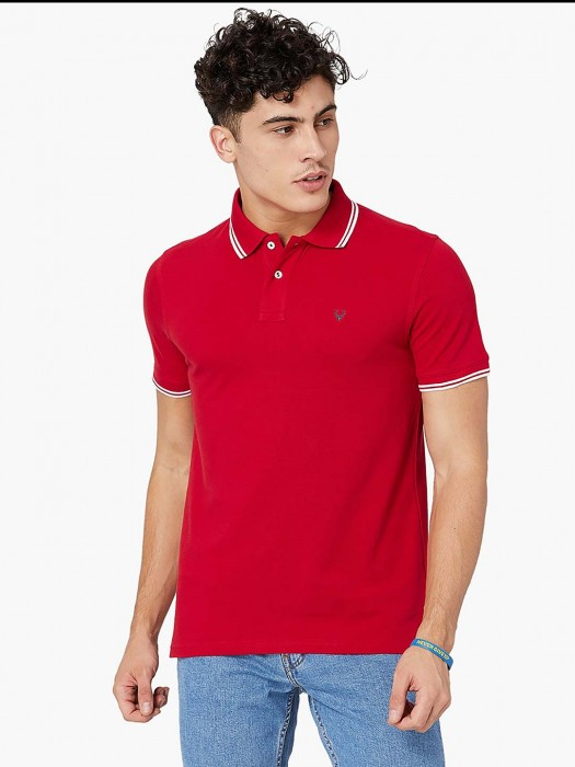 Allen Solly Solid Red Hued T-shirt