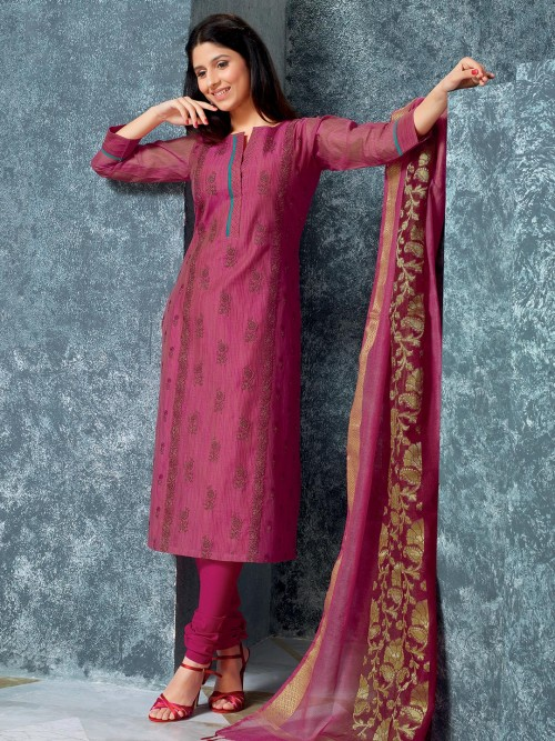 Alluring Purple Punjabi Dress For Festive