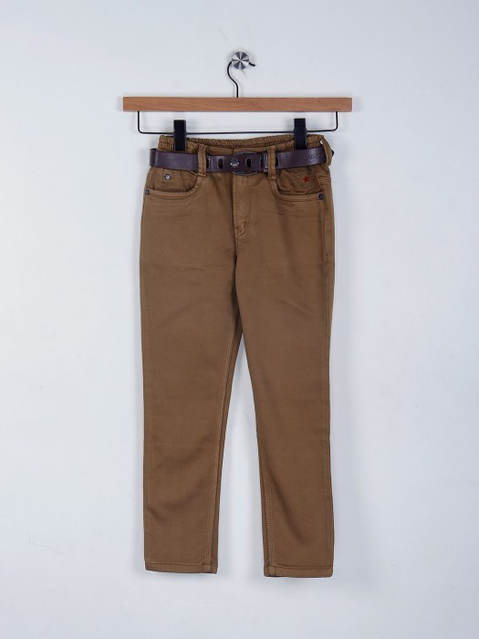 Bad Boys Brown Solid Jeans