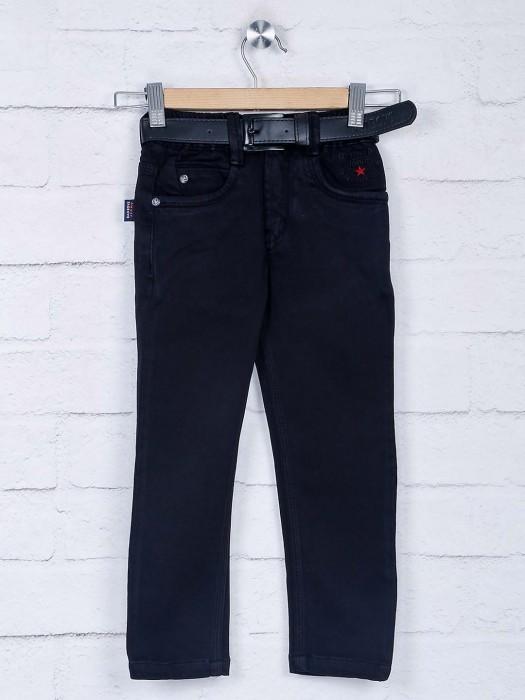 Bad Boys Solid Black Simple Jeans