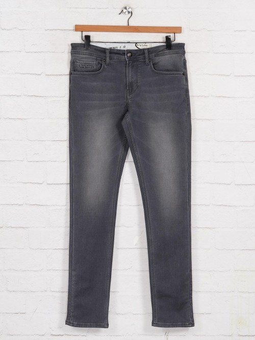 Being Human Washed Grey Mens Jeans