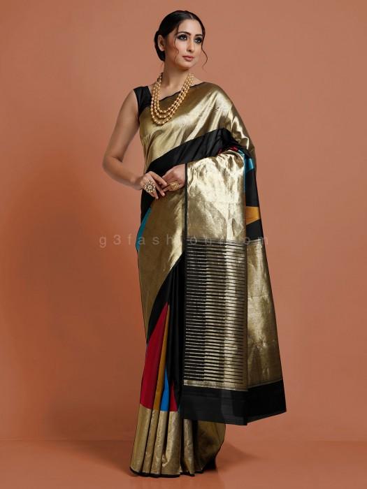 Black Color Kanjivaram Saree