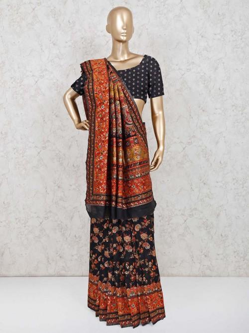 Black Patola Silk Wedding Days Saree
