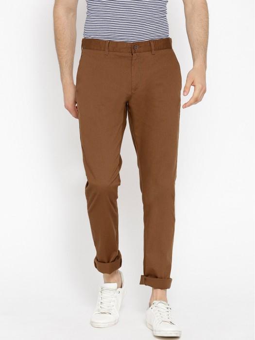 Blackberrys Solid Coffee Brown Hued Trouser