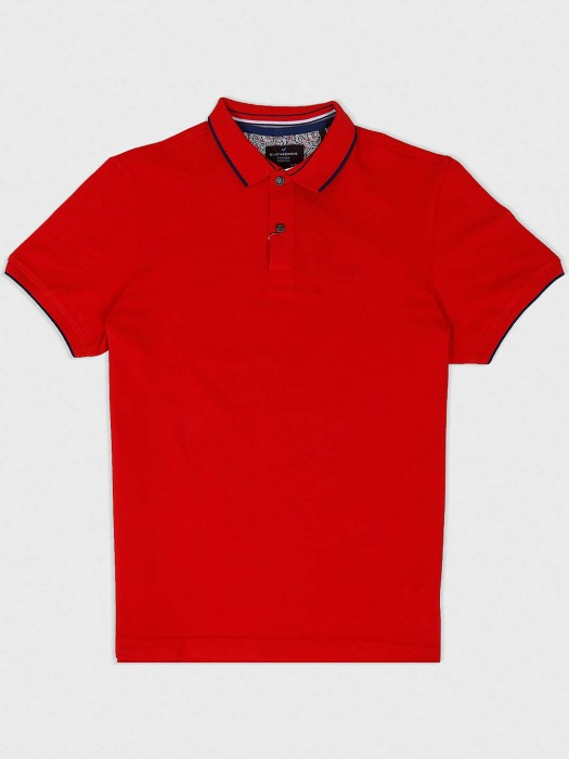 Blackberrys Solid Red Cotton Fabric T-shirt