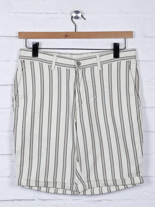 Blackberrys Stripe Beige Hue Shorts
