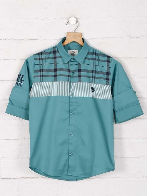 Blazo Green Checks Slim Fit Shirt